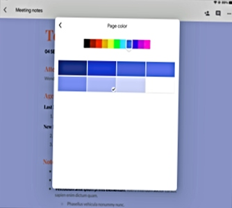 Change the Page Color in a Google Docs in iPadOS