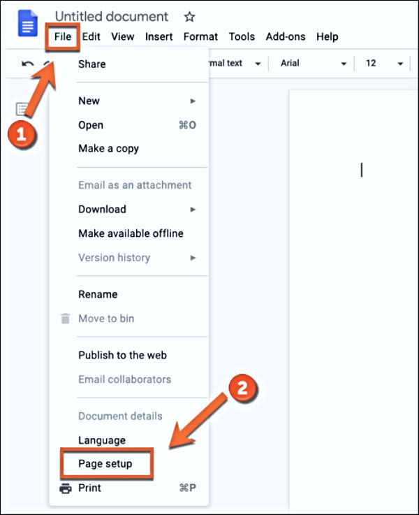 How to Change the Page Color in a Google Docs Web App