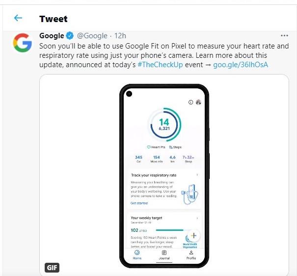 Google pixel tweet