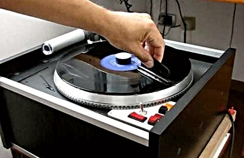 Clean Vinyl Record with Vacuum