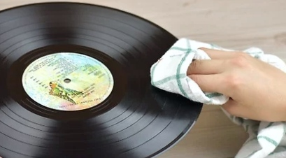 Wipe and Dry the Vinyl Record