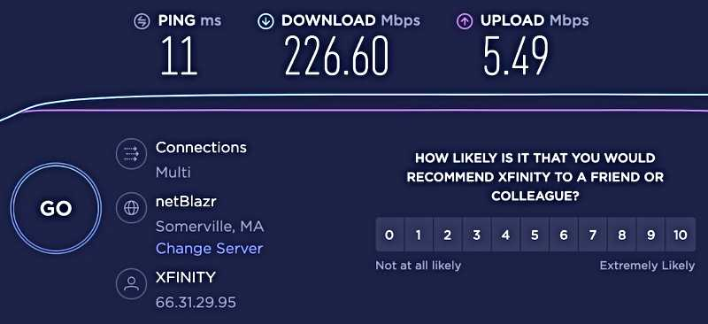 Required, Actual and Uploading Speed